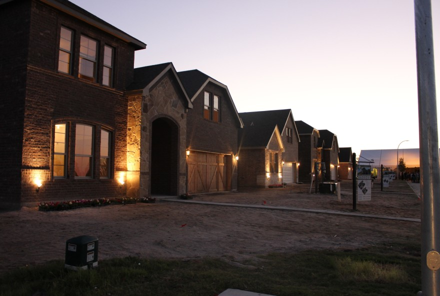 Model Homes at Sunset